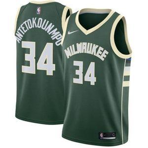 Milwaukee Bucks Giannis Antetokounmpo Green Jersey